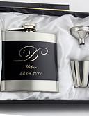 olcso Esküvői ajándékok-Személyre szabott Rozsdamentes acél Bárkellékek és üvegek Flaska Vőlegény Násznagy Pár Szülők Esküvő Évforduló Születésnap Üzleti