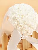 preiswerte Unterröcke für Hochzeitskleider-Hochzeitsblumen Sträuße Hochzeit Party / Abend Krystall Strass Satin Schaum 27 cm ca.