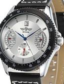 abordables Relojeses Mecánicos-Hombre El reloj mecánico Japonés Reloj Casual Piel Banda Lujo Negro / Acero Inoxidable / Cuerda Manual