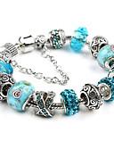 cheap Women's Blouses-Women's Charm Bracelet / Strand Bracelet - Crystal, Silver Plated Ball Orange, Blue, Pink