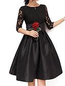 tanie Sukienki-Damskie Wyrafinowany styl Puszysta Bawełna Spodnie - Solidne kolory Czarny, Łuk Czarny / Wyjściowe