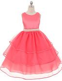 preiswerte Kleider für Mädchen-Kinder Mädchen Zum Kleid Solide Ärmellos Kleid