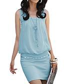 billige Minikjoler-Dame Bomuld Bukser - Ensfarvet Blå Sort / Mini