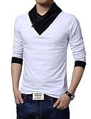 cheap Men's Shirts-Men's Sports Work Plus Size Cotton T-shirt - Solid Colored Color Block