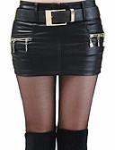 preiswerte Damen Röcke-Damen Street Schick Ausgehen Bodycon Röcke - Solide Gespleisst / Sexy / Schlank
