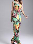 preiswerte Damen Kleider-Damen Strand Baumwolle Bodycon Kleid - Gerüscht, Galaxis Maxi U-Ausschnitt