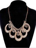 Недорогие Кварцевые часы-Жен. Заявление ожерелья Массивный Простой стиль Мода египтянин Сплав Цвет экрана Ожерелье Бижутерия Назначение