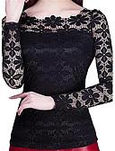 ieftine Bluză-Pentru femei Mărime Plus Size Bluză Concediu Șic Stradă - Mată Dantelă / Primăvară / Toamnă / Iarnă / Zvelt