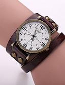 זול שעונים אופנתיים-Xu™ בגדי ריקוד נשים קווארץ מכירה חמה עור להקה קסם אופנתי שחור לבן כחול אדום תפוז חום ירוק