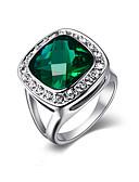 halpa Muotialusvaatteet-Naisten Kristalli / Synteettinen Emerald rykelmä Statement Ring - Metalliseos Muoti Yksi koko Hopea / Kultainen Käyttötarkoitus Party