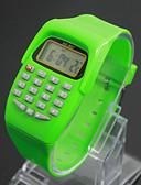 رخيصةأون ساعات موضة-للأطفال ساعات فاشن ساعة رقمية ياباني كوارتز رقمي 30 m LCD Plastic فرقة رقمي سحر أسود / أزرق / أحمر - أرجواني أخضر أزرق سنة واحدة عمر البطارية