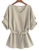 preiswerte Bluse-Damen Solide - Street Schick Übergrössen Bluse, V-Ausschnitt Schleife