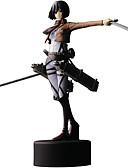 זול מכנסיים ושורטים לגברים-נתוני פעילות אנימה קיבל השראה מ Attack on Titan Mikasa Ackermann PVC 14 CM צעצועי דגם בובת צעצוע