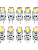 رخيصةأون ملابس السباحة والبيكيني 2017 للنساء-10pcs 1W 100 lm G4 أضواء LED Bi Pin T 1 الأضواء COB تخفيت أبيض دافئ أبيض كول DC 12V
