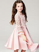 tanie Sukienki-Brzdąc Dla dziewczynek Słodkie Impreza Jendolity kolor Długi rękaw Sukienka