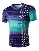 abordables Camisetas y Tops de Hombre-Hombre Deportes Estampado - Algodón Camiseta Delgado / Manga Corta