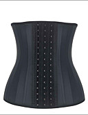 cheap Corsets-Women's Hook & Eye Plus Size Underbust Corset-Solid