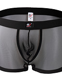 baratos Moda Íntima Exótica para Homens-Homens Grade Boxer Curto Estampa Colorida Cintura Média