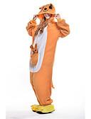 ieftine Bolerouri de Nuntă-Pijama Kigurumi Cangur Pijama Întreagă Costume Lână polară Portocaliu Cosplay Pentru Sleepwear Pentru Animale Desen animat Halloween