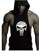cheap Fashion Hats-Men's Sports Active Tank Top - Skull Print Hooded / Sleeveless