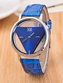 preiswerte Modische Uhren-Damen Armbanduhr Quartz Schwarz / Weiß / Blau Transparentes Ziffernblatt / Analog damas Freizeit Modisch - Dunkelblau Rot Rosa