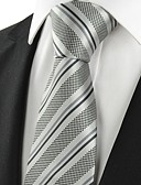 cheap Men's Ties & Bow Ties-Men's Party Work Basic Cotton Rayon Polyester Necktie - Striped