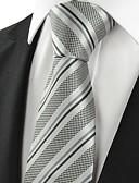 ieftine Cravate & Papioane de Bărbați-Bărbați Dungi Petrecere Birou De Bază, Bumbac Celofibră Poliester - Cravată