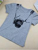 tanie Topy dla chłopców-Brzdąc Dla chłopców Krótki rękaw Bawełna T-shirt Szary 100