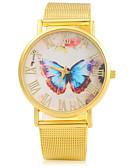 זול קווארץ-בגדי ריקוד נשים שעון יד מכירה חמה סגסוגת להקה פרפר / אופנתי זהב
