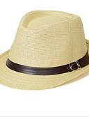 hesapli Moda Aksesuarlar-Unisex Vintage Sevimli Parti İş Günlük Keten Hasır Şapka Güneş şapkası, Bahar Yaz Beyaz Bej Kahverengi Krem Haki