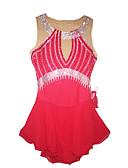baratos Vestidos de Patinação no Gelo-Vestidos para Patinação Artística Mulheres / Para Meninas Patinação no Gelo Vestidos Vermelho Pedrarias Espetáculo Roupa para Patinação