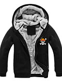 """billige Moteundertøy-Inspirert av One Piece Monkey D. Luffy Anime  """"Cosplay-kostymer"""" Cosplay gensere Trykt mønster Langermet Topp Til Herre Halloween-kostymer"""