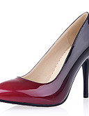 cheap Men's Shirts-Women's Shoes Patent Leather / Leatherette Spring / Summer Stiletto Heel Yellow / Red / Almond / Party & Evening / Dress / Party & Evening