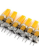 voordelige Sexy kostuums-6pcs 2W 200 lm G4 2-pins LED-lampen MR11 1 leds COB Decoratief Warm wit Koel wit AC 12V DC 12V