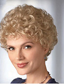 cheap Women's Leather Jackets-Synthetic Wig Curly Blonde Synthetic Hair Blonde Wig Women's Short Capless