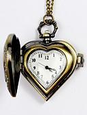 baratos Relógios Masculinos-Homens Relógio de Bolso Quartzo Gravação Oca Lega Banda Analógico Amuleto Prata / Amarelo
