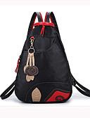 abordables Leggings para Mujer-Mujer Bolsos PU Mochila Escolar / Bolso de Viaje / mochila Un Color Negro