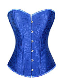 cheap Corsets & Bustiers-Women's Satin Lace Up Overbust Corset - Jacquard / Spring