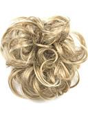 halpa Naisten mekot-Synteettiset peruukit / Nutturat Kihara / Classic Kerroksittainen leikkaus Synteettiset hiukset updo Peruukki Naisten Lyhyt