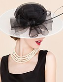 cheap Women's Nightwear-Tulle / Flax Hats / Headwear with Floral 1pc Wedding / Special Occasion / Casual Headpiece