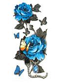 billige Brudekjoler-Tatoveringsklistermærker Midlertidige Tatoveringer Art Deco/Retro Vandtæt / 3D Kropskunst Ansigt / hænder / Brachium