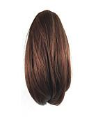 hesapli Nedime Elbiseleri-Klipsli At Kuyrukları Ayı Claw / Çene Klipsi Sentetik Saç Saç Parçası Ek saç Bukle