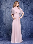cheap Suits-A-Line Sweetheart Neckline Floor Length Chiffon Mother of the Bride Dress with Sash / Ribbon by LAN TING BRIDE®