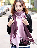 cheap Fashion Scarves-Women's Work Rectangle - Patchwork / Cute / White / Yellow / Red / Blue