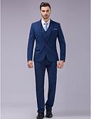 preiswerte Anzüge-Blau Schlanke Passform Anzug - Schlankes steigendes Revers Einreiher - 1 Knopf / Anzüge