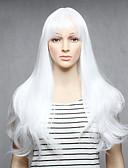 olcso Női hálóruházat-Szintetikus parókák Női Egyenes Fehér Szintetikus haj Fehér Paróka Hosszú Sapka nélküli Fehér