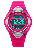 cheap Sport Watches-SKMEI Sport Watch / Digital Watch Alarm / Calendar / date / day / Chronograph Rubber Band Fashion Black / Blue / Pink / Water Resistant / Water Proof / Luminous / LCD / Stopwatch / Two Years