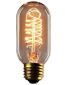 billige Blomsterpikekjoler-1pc 40W E26 / E27 T45 Varm hvit 2300k Kontor / Bedrift Mulighet for demping Dekorativ Glødende Vintage Edison lyspære 220-240V