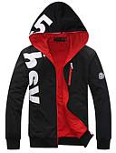 זול גברים-ג'קטים ומעילים-אותיות Jacket hoodie רזה שרוול ארוך מידות גדולות פעיל ספורט בגדי ריקוד גברים