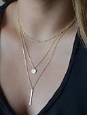 preiswerte T-Shirt-Damen Pendant Halskette Y Halskette Billig damas Grundlegend Modisch Silber Golden Modische Halsketten Schmuck Für Party Alltag Normal